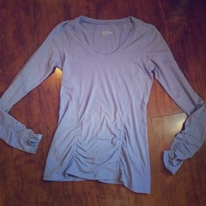 Zella- Attractive Ruched activewear Top.  Size M